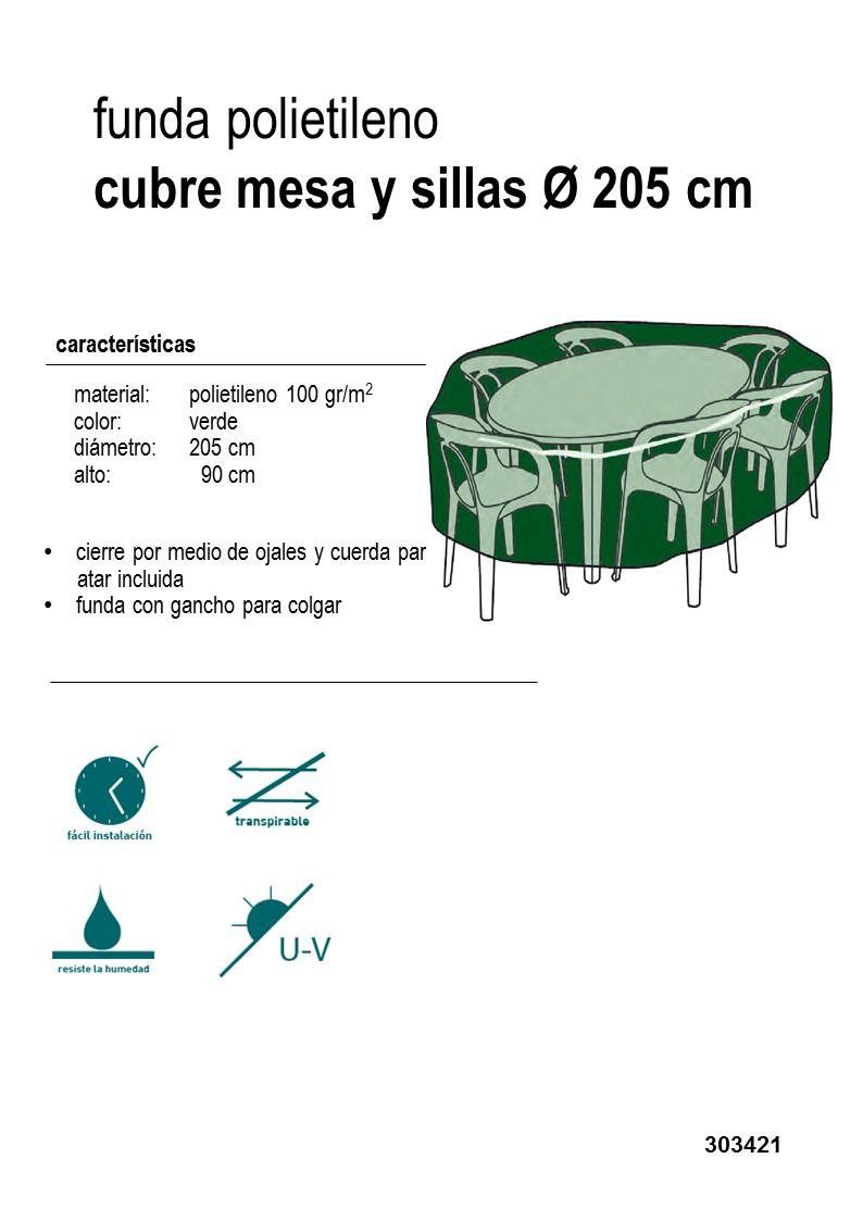 Funda mesa y sillas redonda