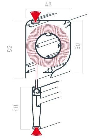 dimensions caisson moustiquaire pour fenêtre