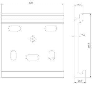support façade dimensions