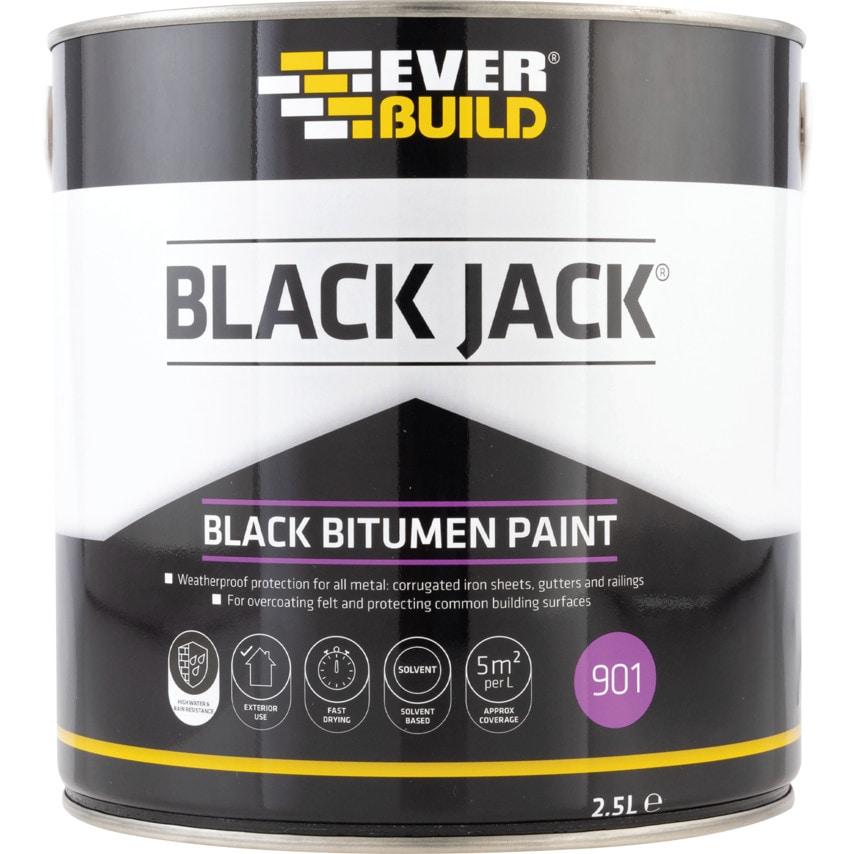 Ever Build 901 Bitumen Paint Black 2 .5LTR