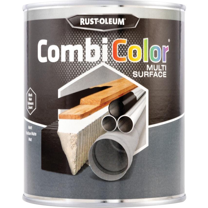 Rust-oleum 7378MS CombiColor Multi-surface Matt Black 750ML