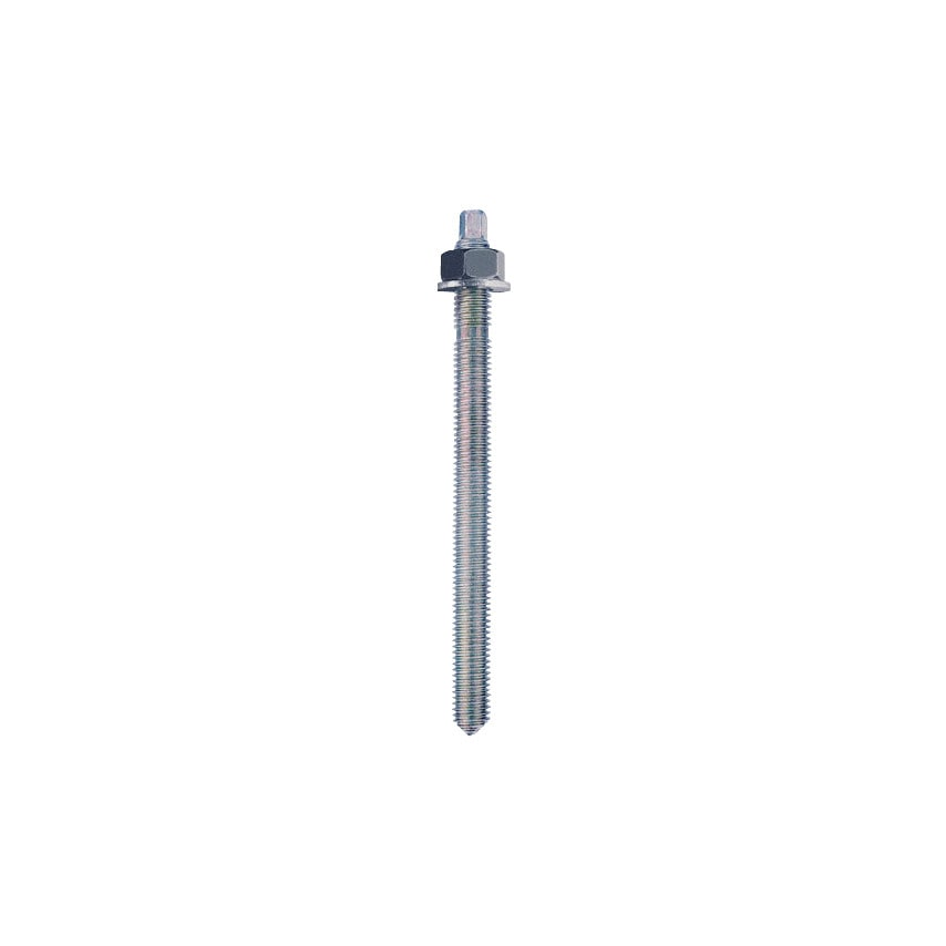Rawl R-STUDS-16190 (60-716) Stud with Nut & Washer Zinc Plated (BZP) M16 X 190MM (Pack-10)