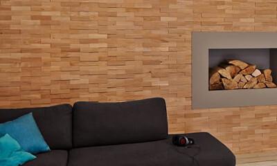 revestimiento de paredes de madera pared