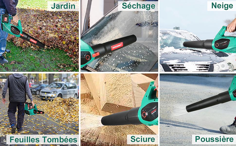 souffleur de feuilles a batterie, souffleur de feuilles sans fil, souffleur feuilles mortes