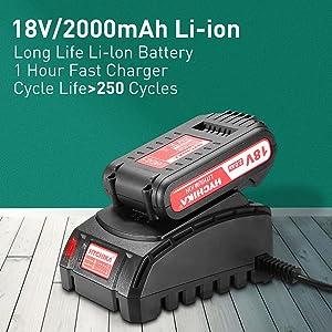 18v 2000mAh Li-ion battery