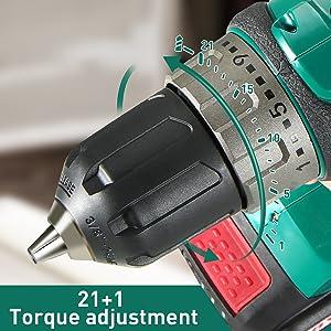 21+1 torque adjustment