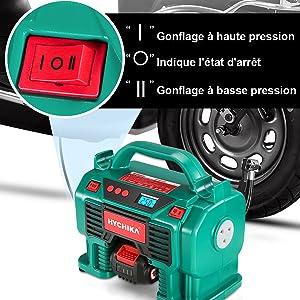 compresseur à air, Compresseur d'air portatif, gonfleur pneus voiture