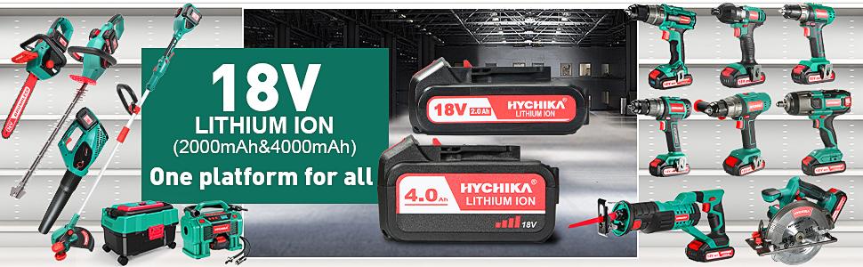 18V lithium ion battery