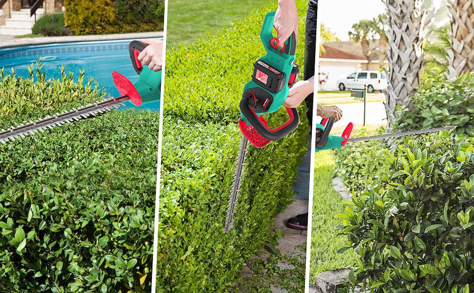 hedge trimmer, garden trimmer, hedge cutter, cordless hedge trimmer