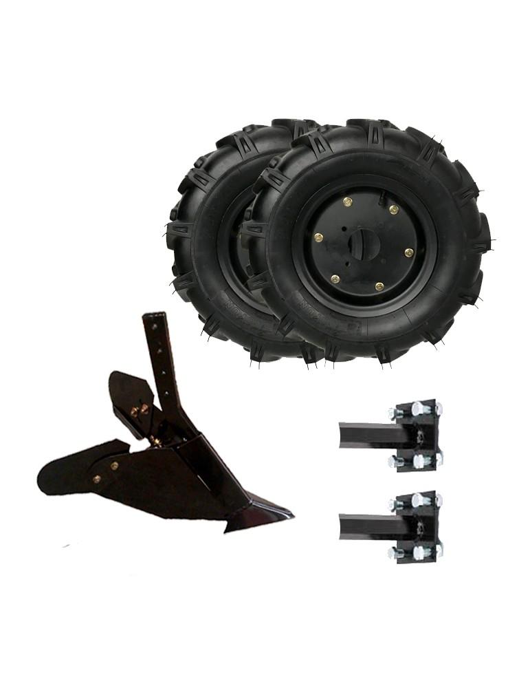 kit asurcador con ruedas neumaticas para motoazadas