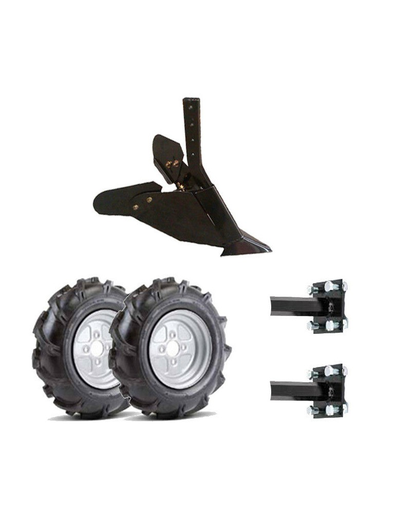 kit asurcador motoazada con ruedas neumaticas