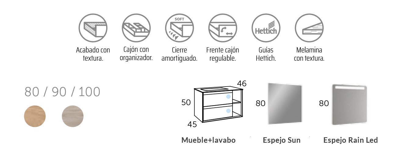 Mueble de Baño Suspendido Hole