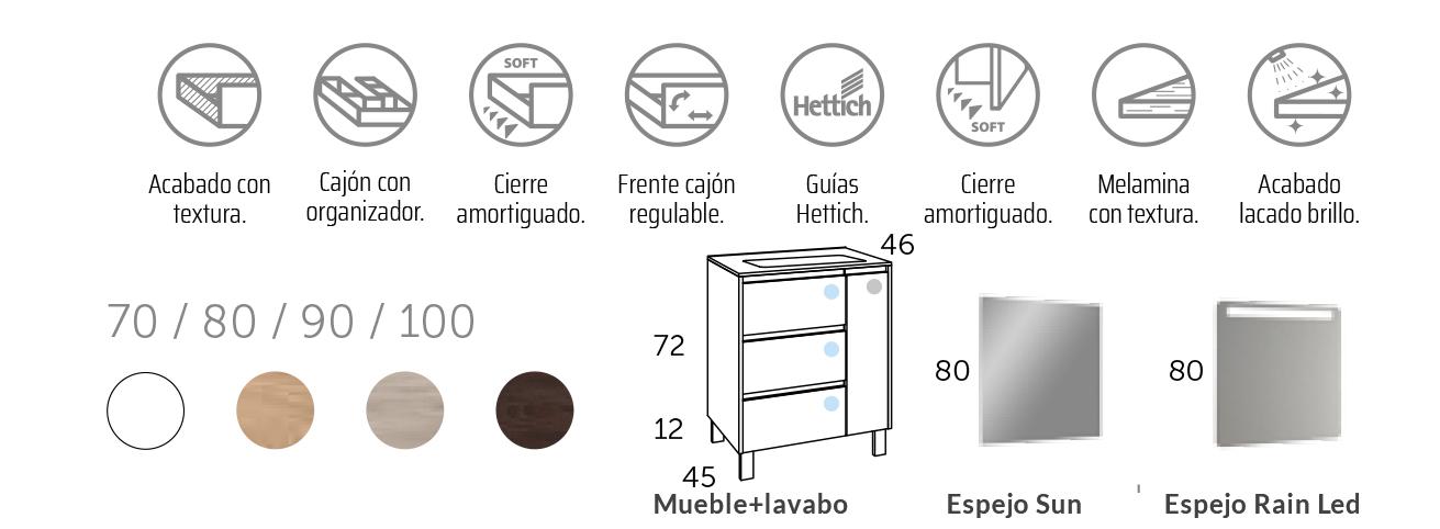 Mueble de baño al suelo Cervino