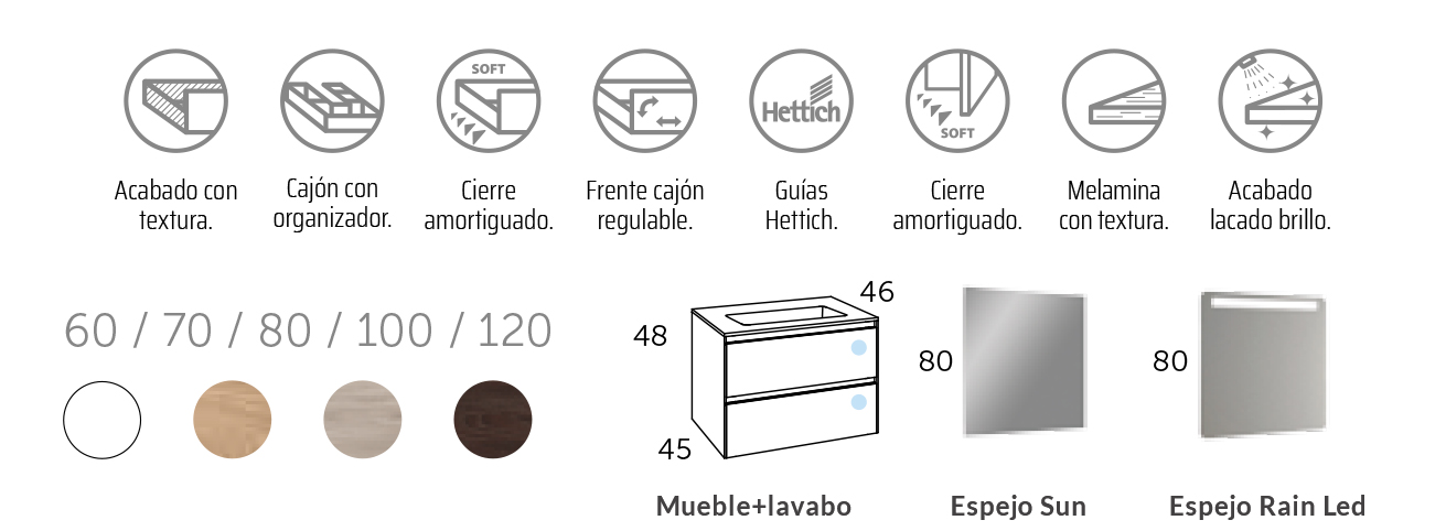Mueble de Baño Suspendido modelo Oslo