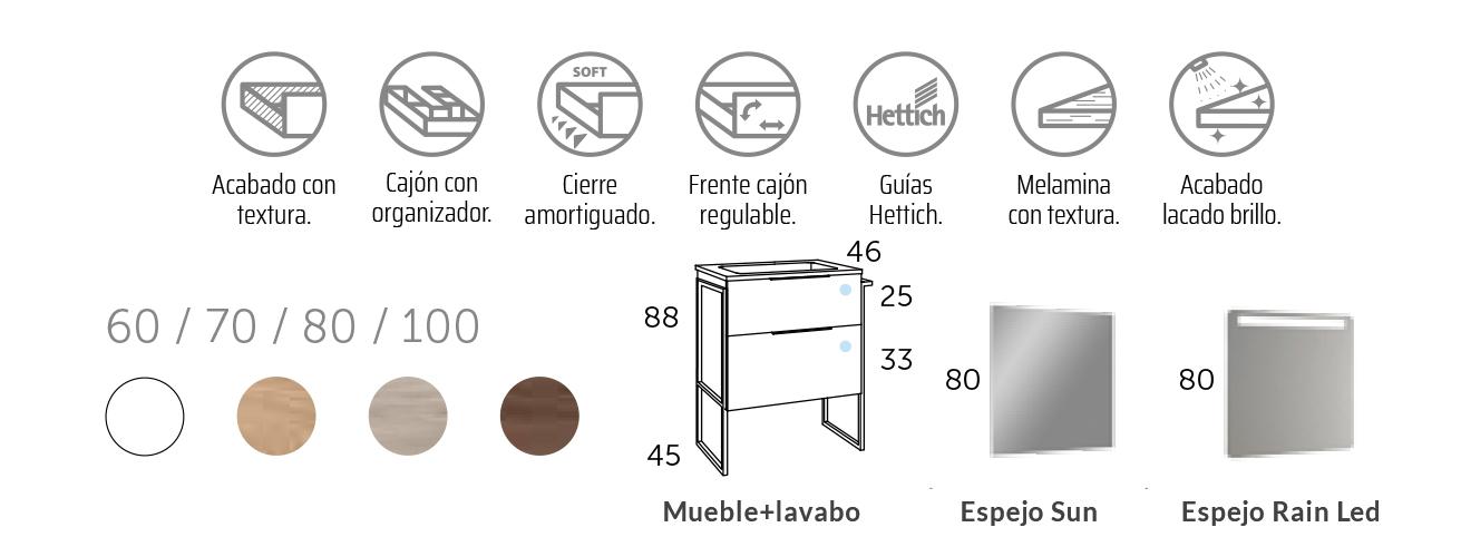 Mueble de Baño Industrial al suelo Galsaky