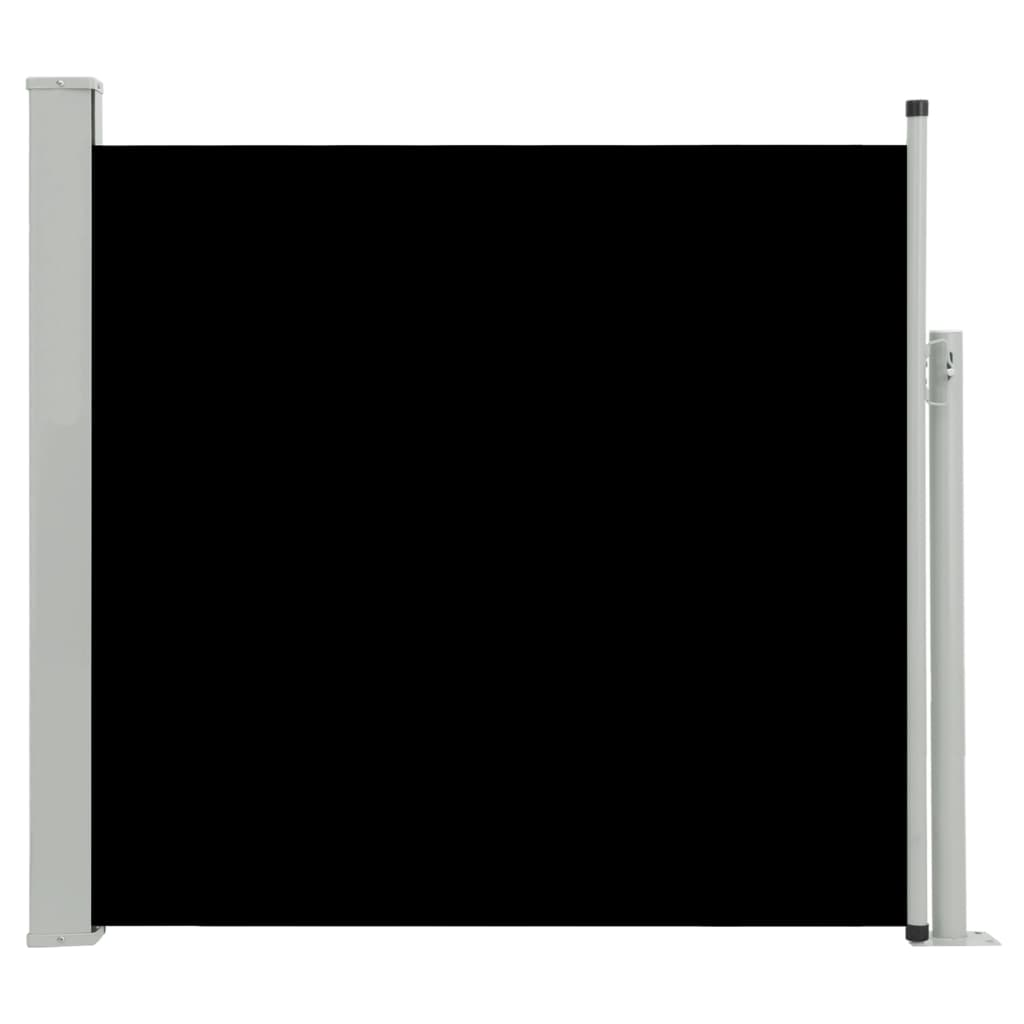 Ausziehbare Seitenmarkise 8×8 cm Schwarz
