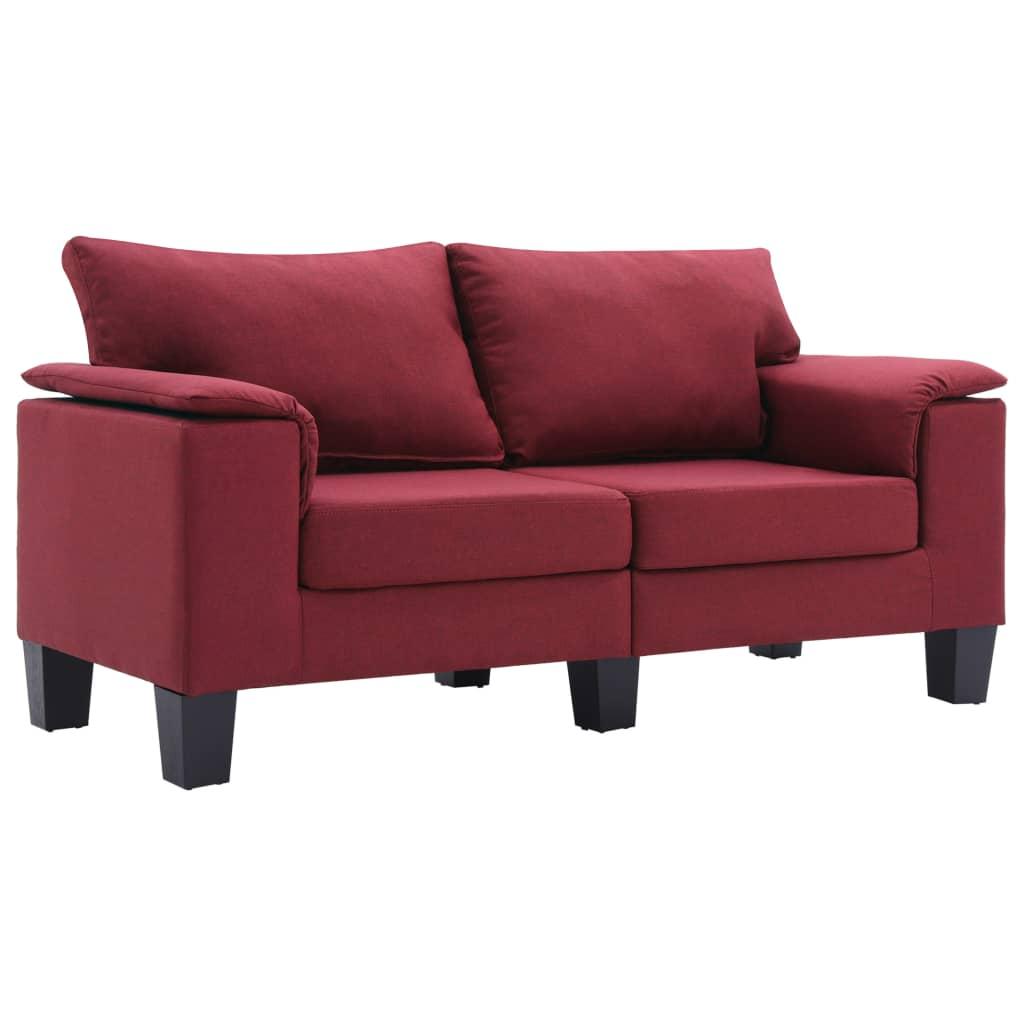2-Sitzer-Sofa Weinrot Stoff