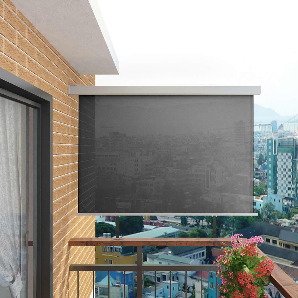 Balkon Seitenmarkise Multifunktional 180 200 Cm Grau