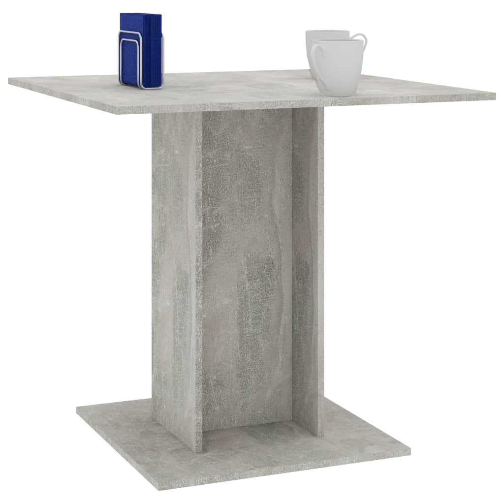 Tavolo da Pranzo Grigio Cemento 80x80x75 cm in Truciolato
