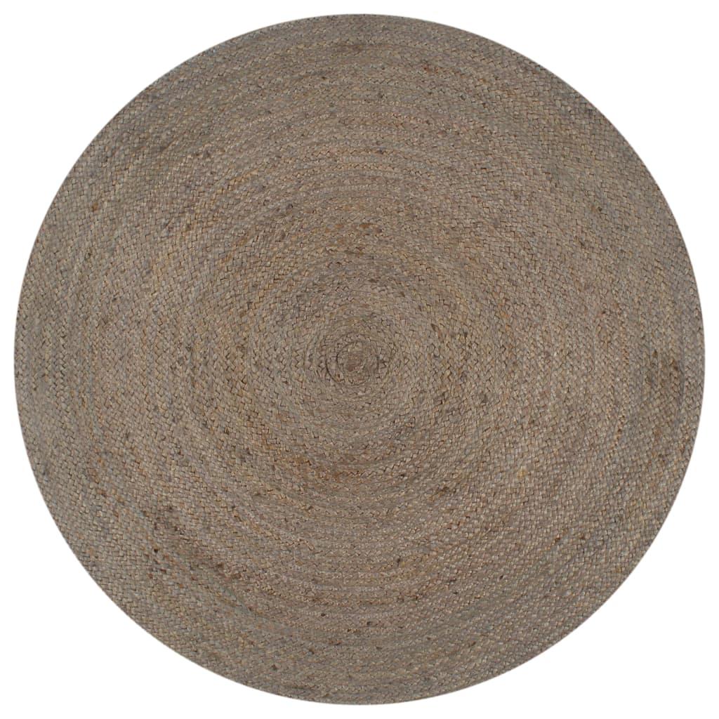 vidaXL Placemats 6 pcs Plain Anthracite 38 cm Round Jute and Cotton