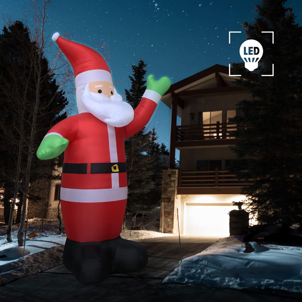 4//7ft Aufblasbarer Weihnachtsmann//Schneemann Weihnachtsdeko mit LED Beleuchtet