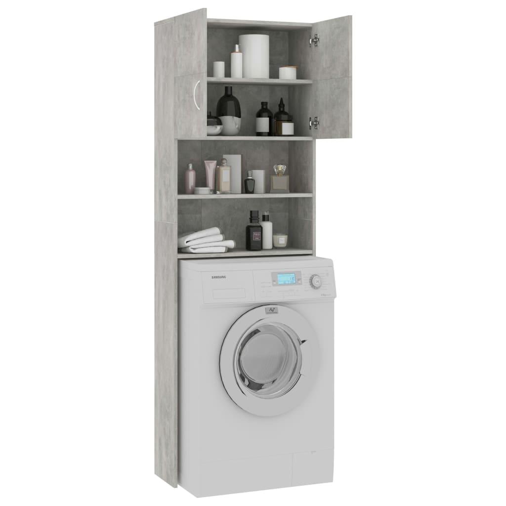Waschmaschinenschrank Betongrau 20×20,20×20 cm Spanplatte
