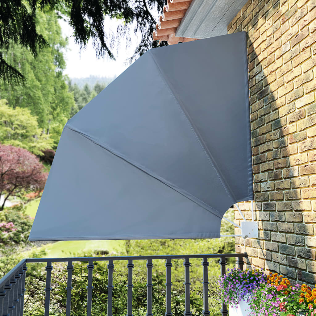 Faltbarer Balkonfacher Grau 210 210 Cm