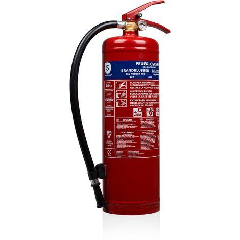 Extincteur Smartwares BB4 – Poudre – 4 kg – Classe de feu ABC