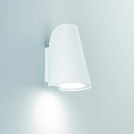 Exto 1-Light White Garden Wall Light