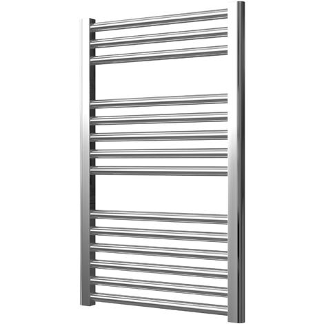 EXTRA HIGH HEAT OUTPUT CHROME CURVED CENTRAL HEATING TOWEL RAIL BATHROOM HEATER ALL SIZES