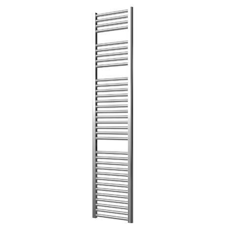 Extra High Heat Output Chrome Electric Towel Rail 400 x 1800mm + TIMER / ROOM THERMOSTAT Flat Bathroom Radiator Heater