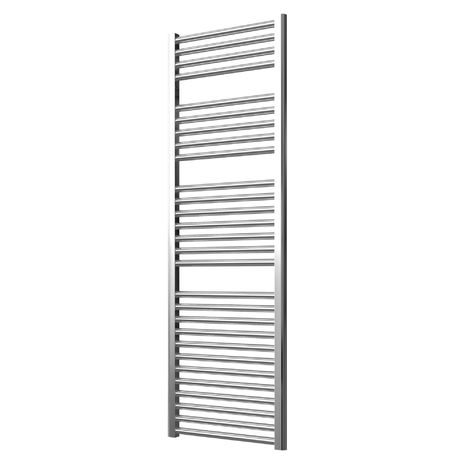 Extra High Heat Output Chrome Electric Towel Rail 500 x 1500mm + TIMER / ROOM THERMOSTAT Curved Bathroom Radiator Heater