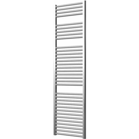 Extra High Heat Output Chrome Electric Towel Rail 500 x 1800mm + TIMER / ROOM THERMOSTAT Flat Bathroom Radiator Heater