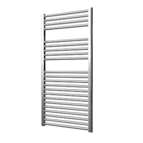 Extra High Heat Output Chrome Electric Towel Rail 600 x 1200mm + TIMER / ROOM THERMOSTAT Flat Bathroom Radiator Heater