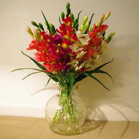 Flower Tall Artificial Flower Arrangements In Vases
