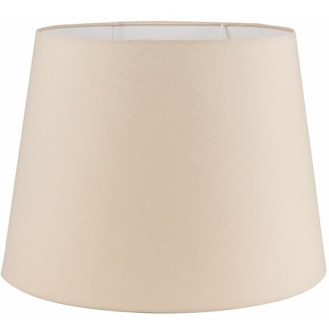 Extra Large Modern Tapered Table/Floor Lamp Light Shade in a Beige Fabric Finish