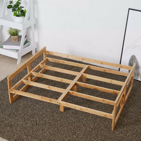 """main image of """"Extra Large Raised Dog Bed Basket Waterproof Pet Sofa Cushion Wooden Frame Stand, different size available"""""""