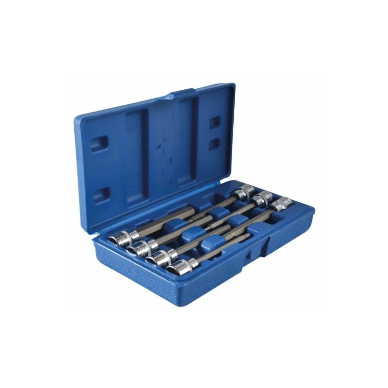 Image of Extra Long 3/8in Square Drive Hex Bit Sockets 7Piece (B/S01516)