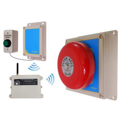 Extra Long Range (1800 metre) Warehouse Wireless 'S' Bell System 2 [006-2300]