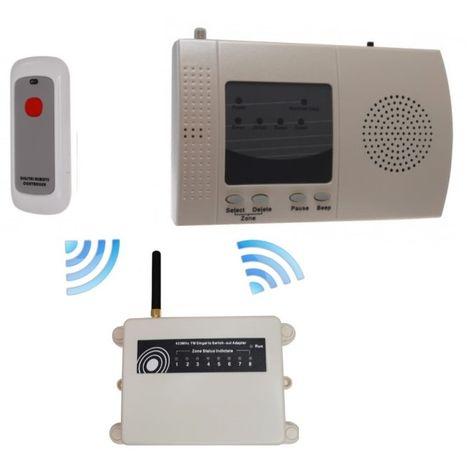 Extra Long Range (1800 metre) Wireless 'S' Alert System with Internal Push Button [006-2340]