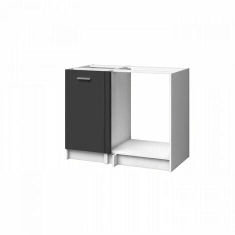 EXTRA - Meuble d'Angle de cuisine 100cm - Gris Mat