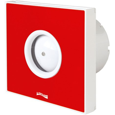 Extracteur d'air hélicoïdal GIOTTO 230V Ø100mm - Rouge