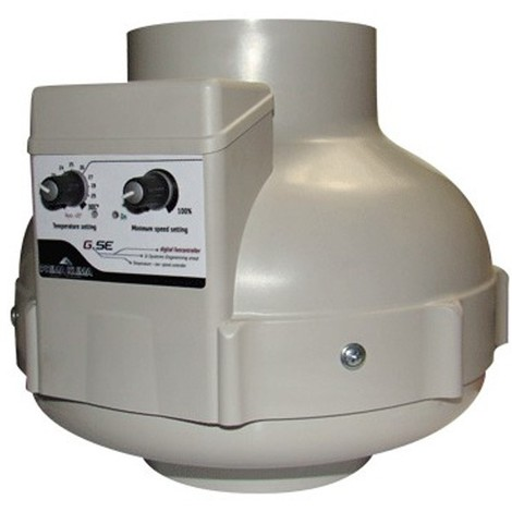 Extracteur d'air PK 125mm 400m³/h Thermo Controller + variateur GSE prima klima