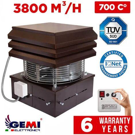 Extracteur De Fumée Pour Cheminèe Aspirateur Ventilateur D'aspiration Électrique Modèle Professionnel Gemi Elettronica