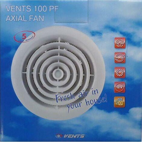 """main image of """"Extracteur de salle de bains Extracteur 100Mm blanc en plastique Pf Saneaplast"""""""