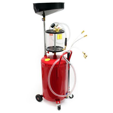 Extracteur d'huile moteur Aspirateur d'huile Air comprimé 80L Collecteur Purgeur Vidange moteur
