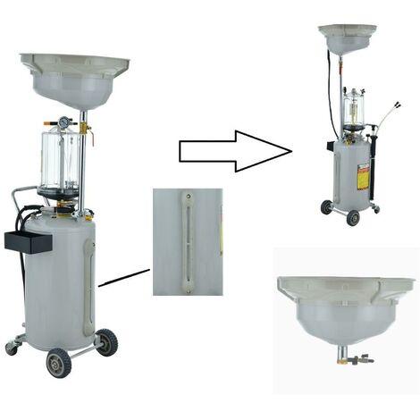 Extracteur / Récuperateur d'huile pneumatique 80L