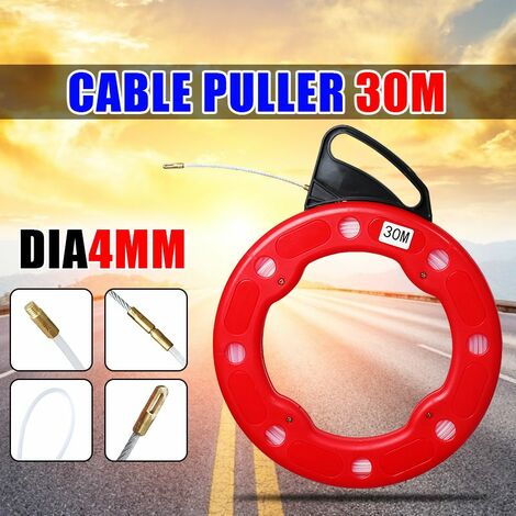 Extracteur Tra?nage Fibre de Verre Cable Tire-fil Rodder électricien4mm x 30M