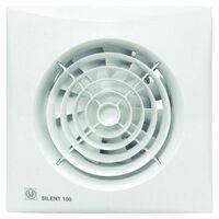 Extractor Baño Axial 95M3/H Silenc Compuerta Antirretorno Blanco Silent 100Cz S P