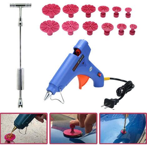 Extractor de abolladuras sin pintura, equipo de herramientas del arma del pegamento del granizo del retiro de la reparacion del martillo deslizante
